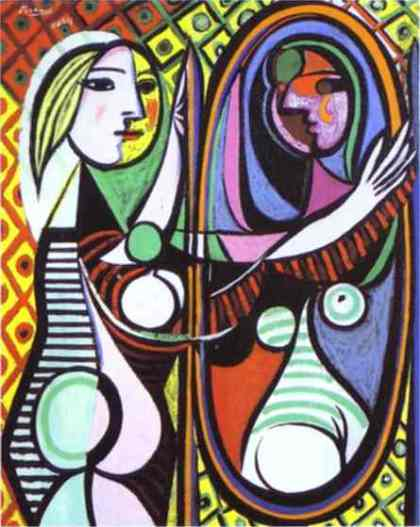 Girl Before A Mirror (Picasso, 1932)