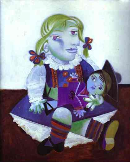 Maya with A Doll (Picasso, 1938)